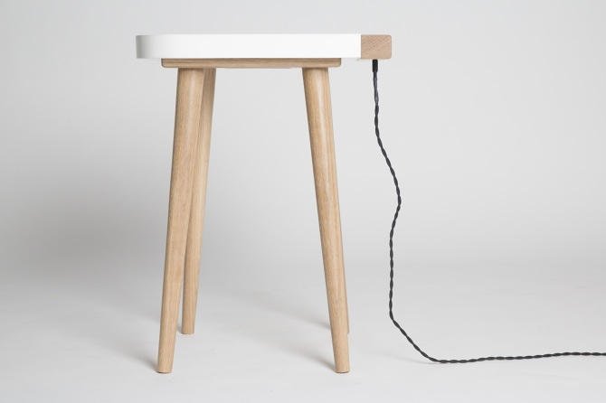 Sgabello Da Bar Industriale Nero Jim : Design: lux table il comodino con lampada integrata osso magazine